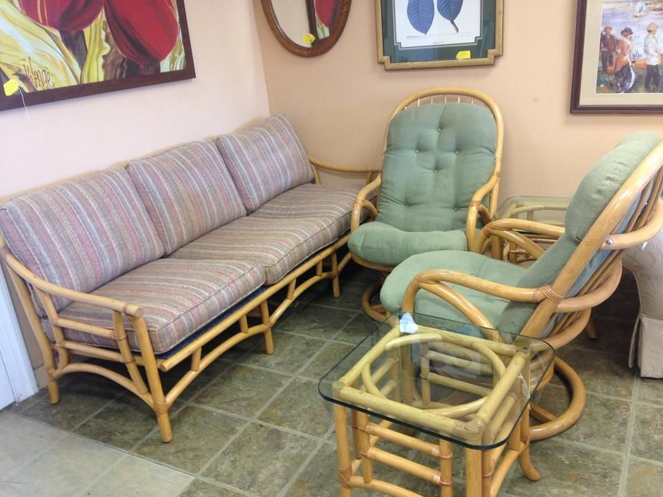 Superbe Vintage Rattan Furniture By Clark Casual Furniture   No Stains (just A  Shadow On Sofa), Very Clean And Sturdy! $650