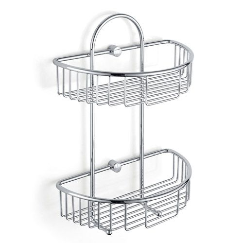 double corner basket shower caddy b5122 2 Tier Double Shelf Shower ...