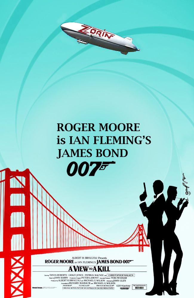 A View To A Kill James Bond Movie Vector Art By Jackiejr