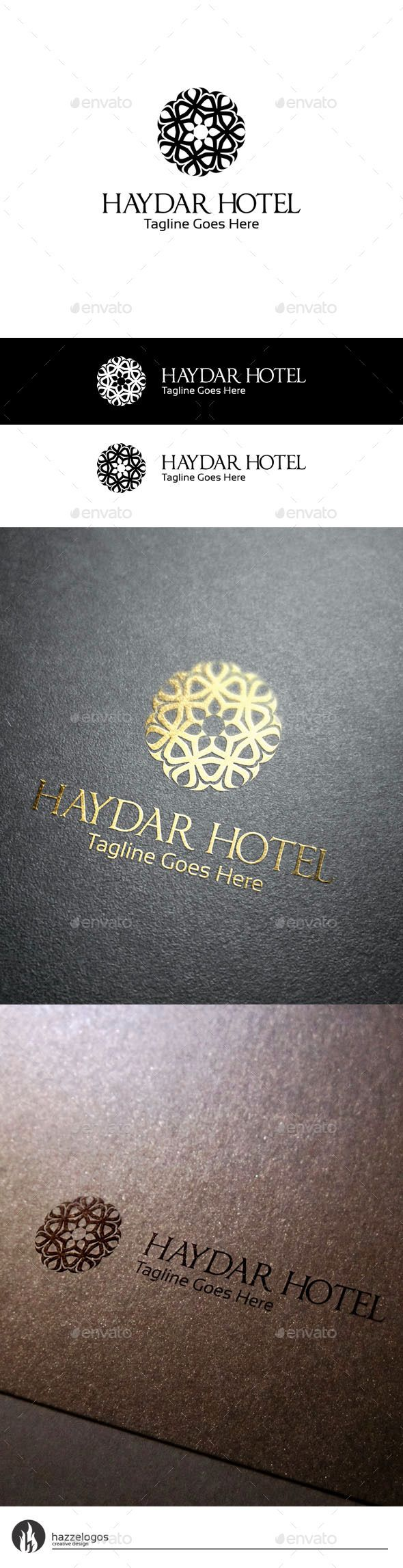 Haydar Hotel Logo Template #design Download: http://graphicriver.net/item/haydar-hotel-logo/10189433?ref=ksioks