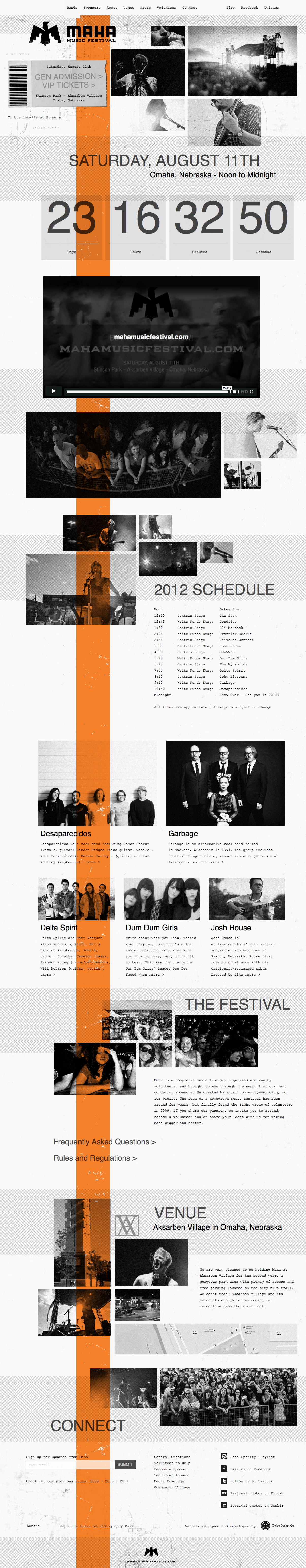 Maha Music Fest website