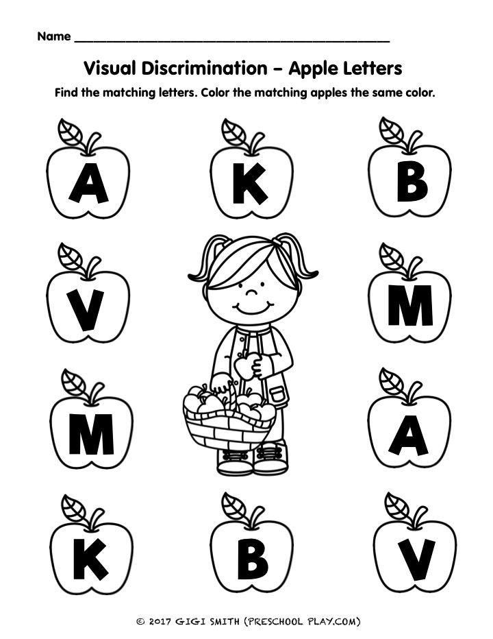 Apple Math And Literacy Activities Letter Worksheets