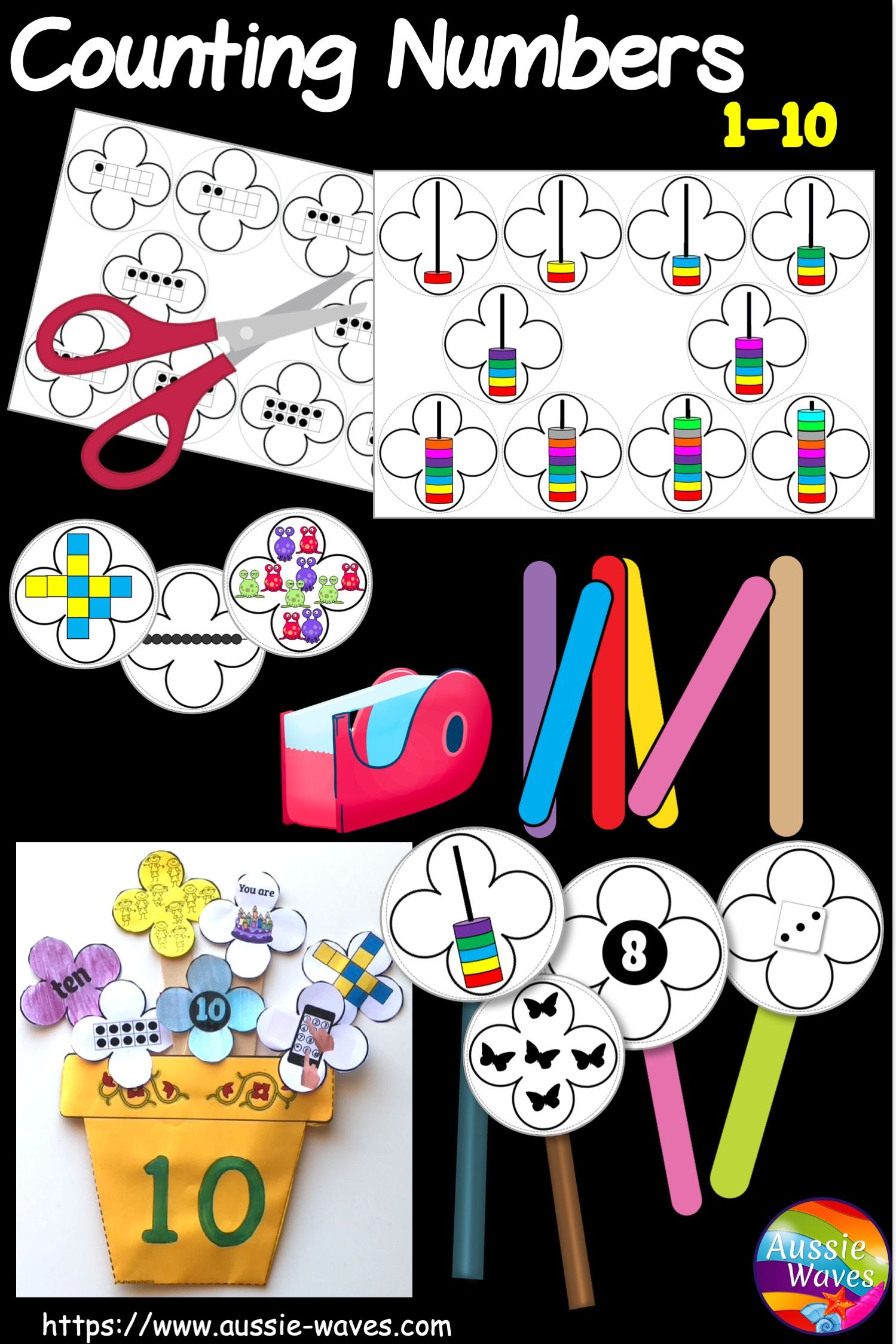 Kinder And Yr 1 Math Counting Activities Numbers 1 10