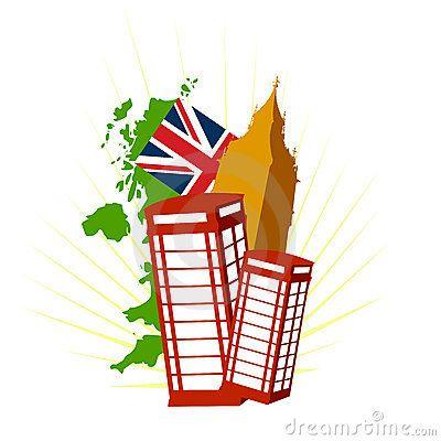 Conjunto de símbolos británicos.