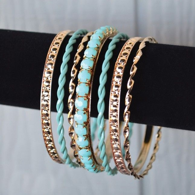 Colored Rhinestone Bangle Bracelets from Tickled Teal   Square Market