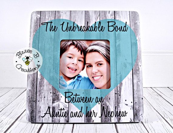 ON SALE Custom Picture Frame Gift Aunt & Nephew Picture | photo ...