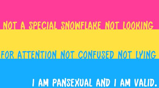 Pansexual a are valid