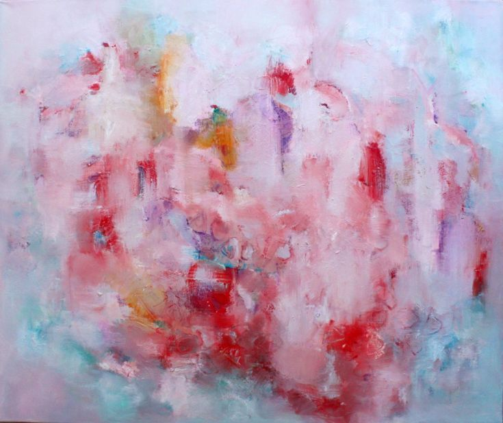 """ARTFINDER: Pomegranate inspiration by Elisaveta Sivas - This painting is created as a contribution to a collective """"Yogurt"""" project of fellow artists on Artfinder.  If there is no enough culture around, I would ..."""