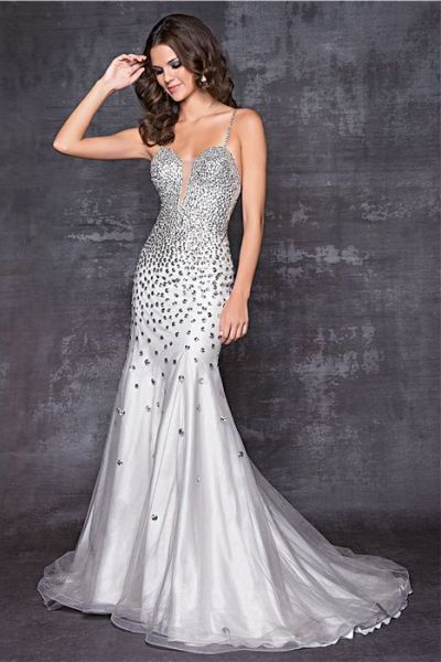 1000  images about Silver gowns on Pinterest - Silver evening ...