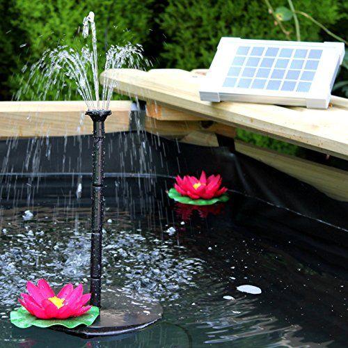 Fontaine Solaire Extérieur Pompe à Eau Solaire pour Fontaine de ...