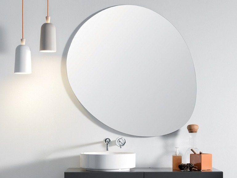 wall-mounted bathroom mirror stone by ex.t design studio 63 | bath ... - Specchi Rotondi Per Bagno