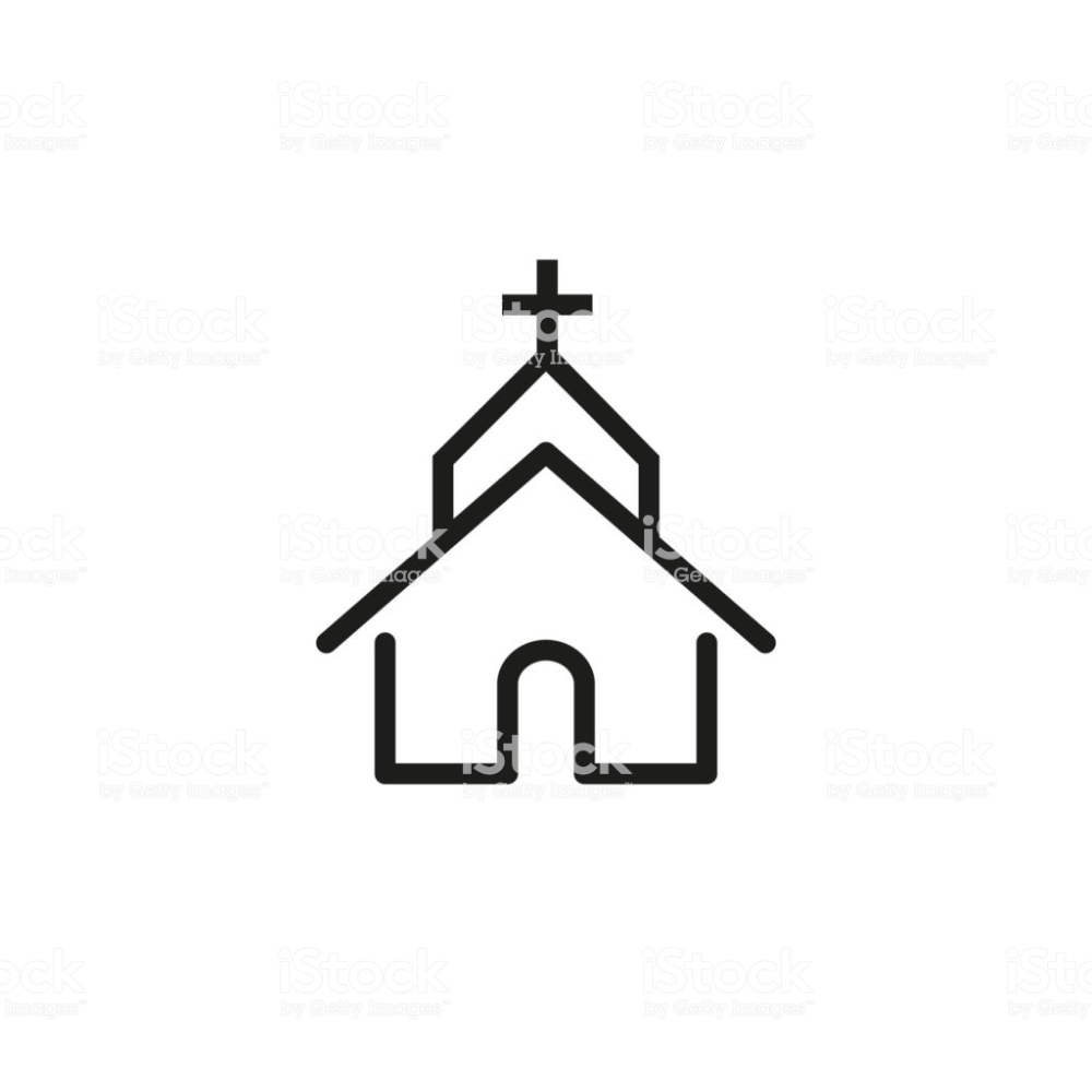 Line Icon Of Church Cathedral Famous Place Pointer Christianity Line Icon Free Vector Art Icon