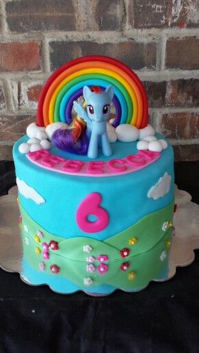 Rainbow Dash Cake by Max Amor Cakes.