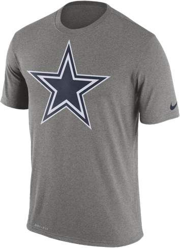 7ed732e60c4 Dallas Cowboys Nike NFL Dri-FIT Logo Essential T-Shirt - Mens - Dark Grey  Heather