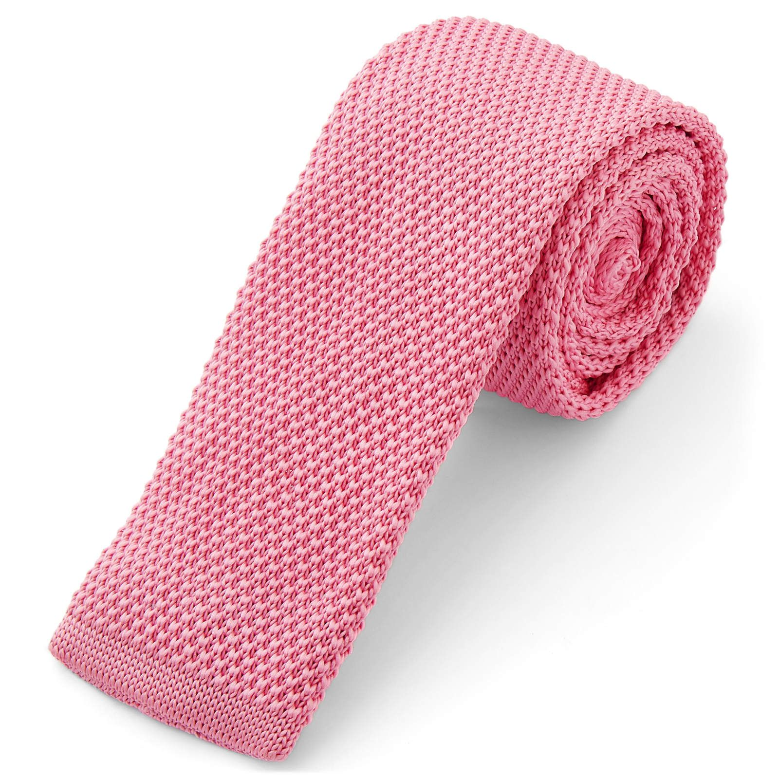 Photo of Hot Pink Knitted Tie | In stock! | Tailor Toki