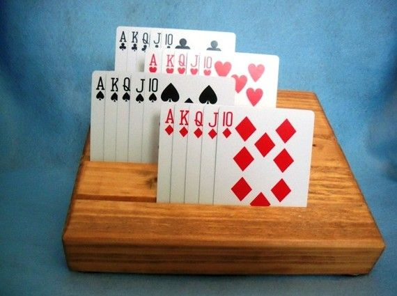 Playing Card Holder For The Elderly Handicapped Or Anyone Playing Card Holder Cards Wooden Cards