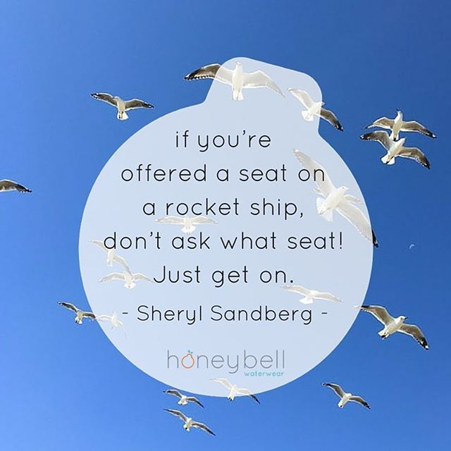 I'm on my rocketship now. Hold on peeps, cos Honeybell Waterwear is making a splash.