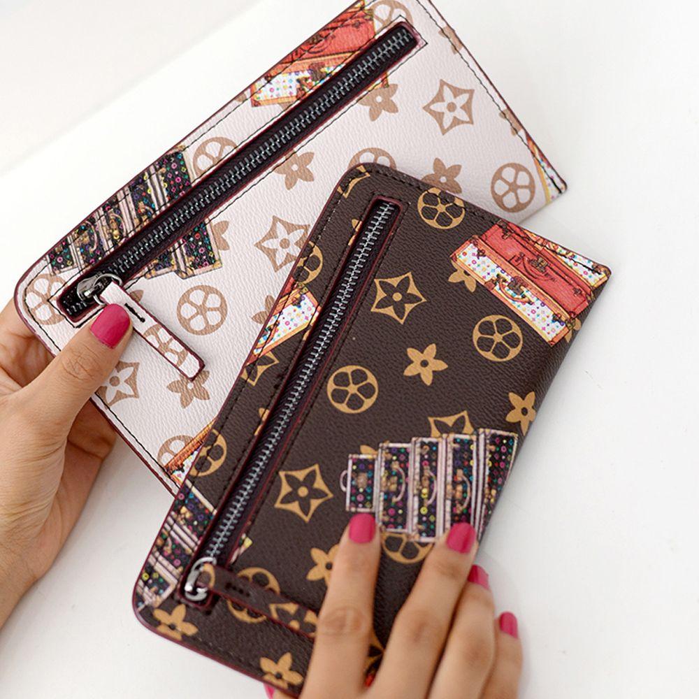 289dd1650f5c Louis Vuitton · Slim Long Designer Famous Brand Women Wallets Female Clutch  Bag Ladies Coin Money Women s Purse Cuzdan