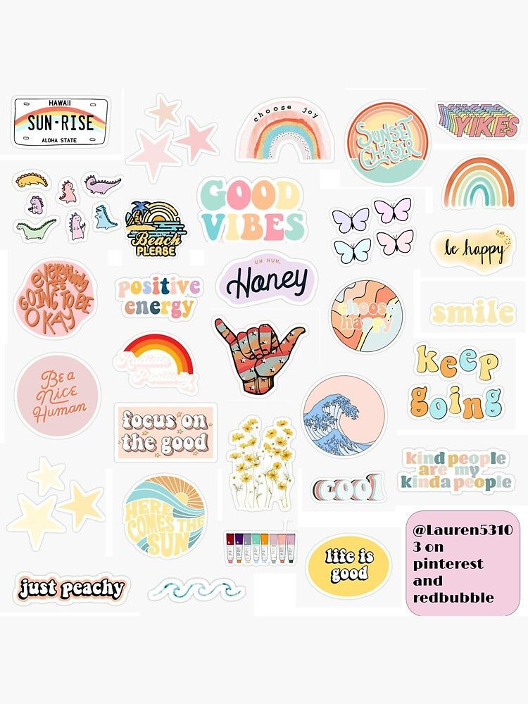 Pegatina Positividad De Lauren53103 Hydroflask Stickers Aesthetic In 2021 Cute Laptop Stickers Iphone Case Stickers Aesthetic Stickers