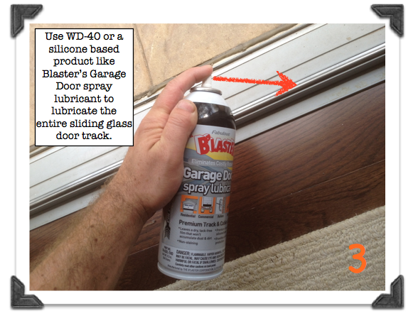 Lubricate The Entire Sliding Glass Door Track Sliding Glass Door Glass Door Sliding Screen Doors