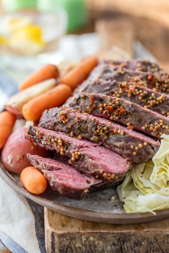 Traditional Slow Cooker Corned Beef And Cabbage And Must