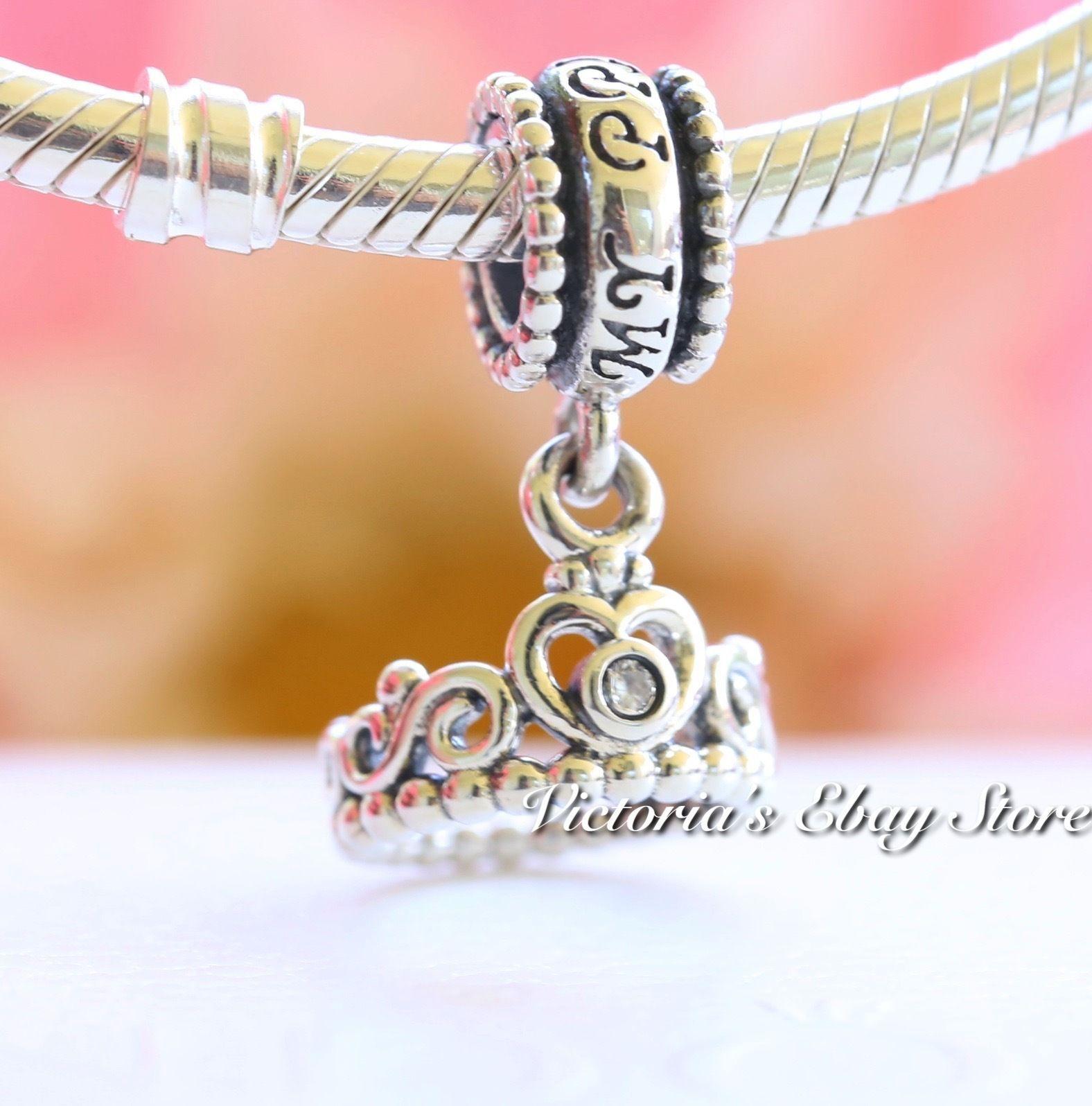 5014746bd Authentic Pandora My Princess Tiara Dangle Sterling Silver Charm 791117Cz