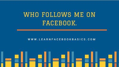 Who follows me on Facebook. Read more on Facebook login