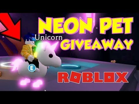 Adopt Me Neon Pets How to get a FREE NEON PET IN ADOPT
