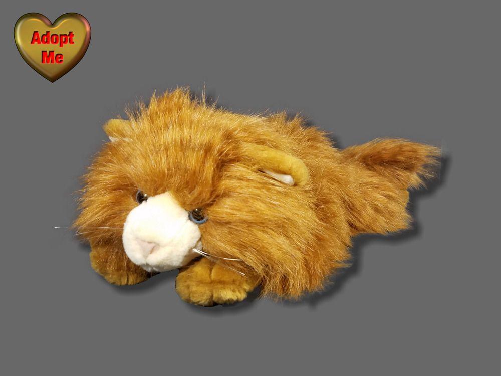 Toys R Us Animal Alley Fluffy Orange Tan Tabby Kitty Cat