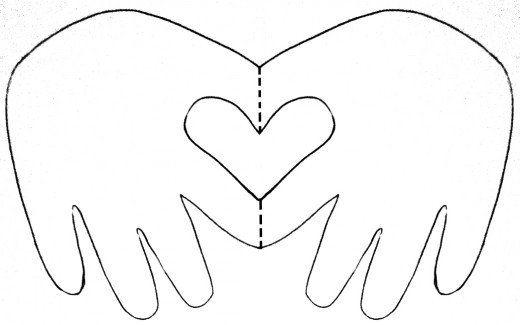 Child/Baby hand heart card Classroom Ideas Printable heart