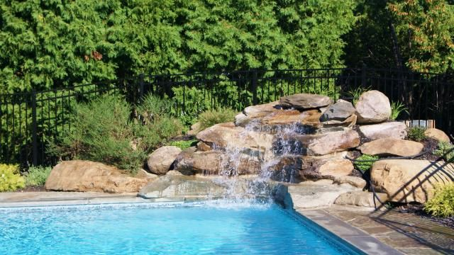 Water Features Rectangle Pool Pool Landscaping Water Features