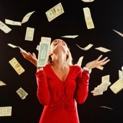 Image result for woman throwing money in the air