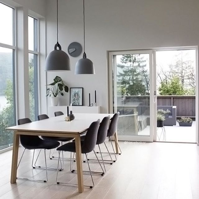 Love this beautiful dining room by @navelsaker Normann Copenhagen - Beautiful Dining Rooms