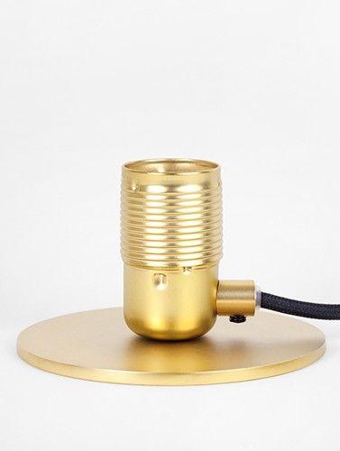 E27 Table Socket Brass / Black
