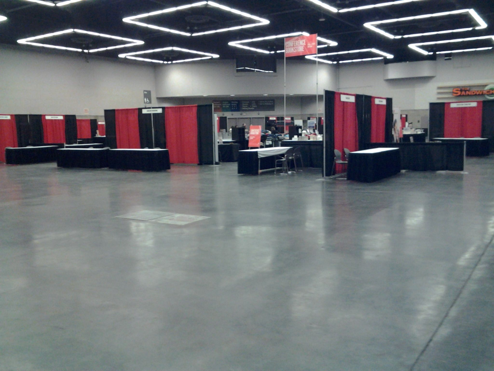 The Oregon Convention Center exhibit hall during set up for The Justice Conference 2012