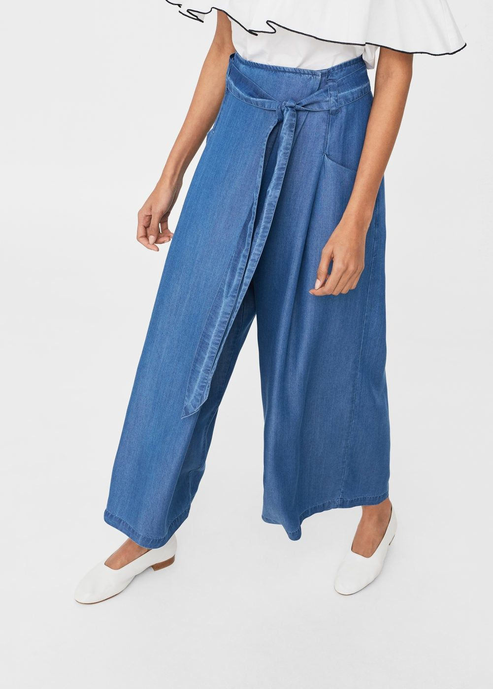 2c425732d77 Pantalón soft cordón - Mujer en 2019   MANGO   Pantalones ...