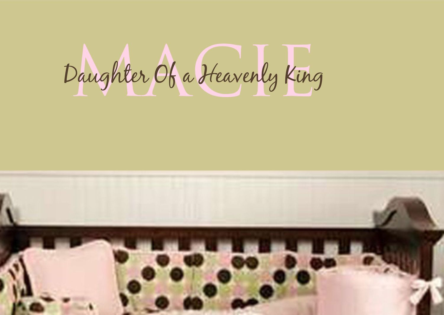 Wall Decal Baby Girl Nursery Name Vinyl Lettering Girls Name Decals ...