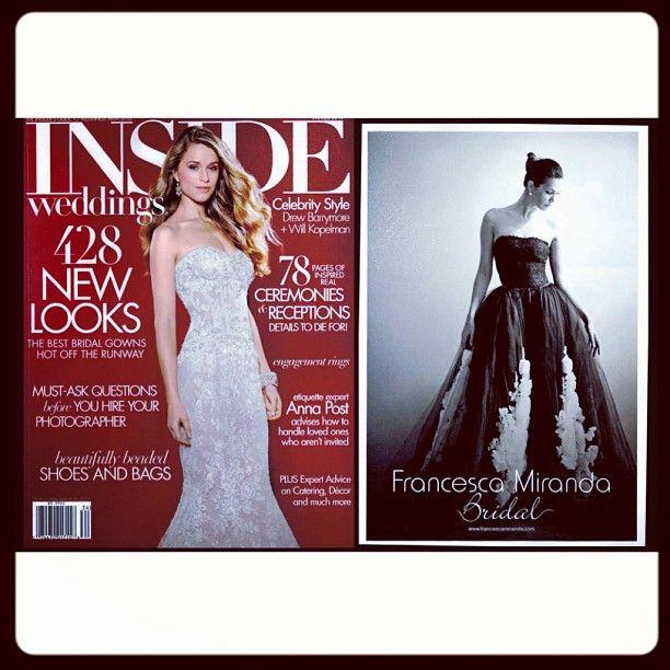 #FrancescaMiranda #Bridal #InsideWeddings Winter 2013 Issue #winter / Edición de Invierno 2013 #invierno - @francescaonline- #webstagram