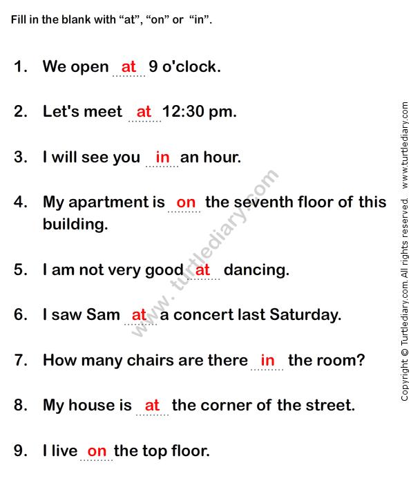 Worksheets Preposition Worksheets Prepositions English Worksheets For Kids