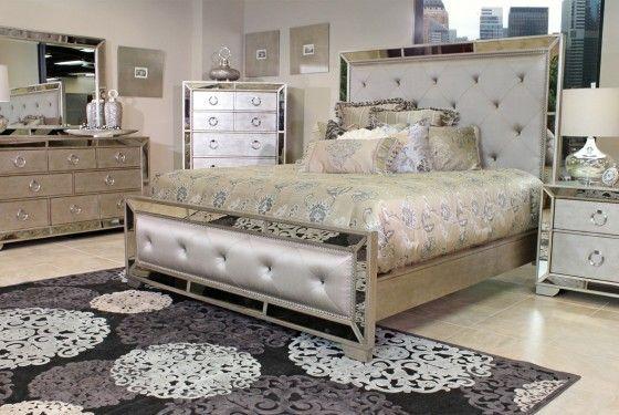Mor Furniture For Less Farrah Bedroom Mirrored Bedroom