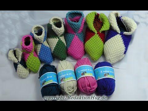Häkel Puschen Aus Hatnut Wolle Tunisian Crochet Videos Pinterest