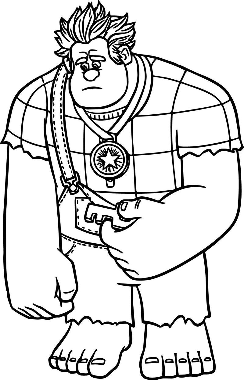 Wreck It Ralph Candle Head Girl Coloring Page Coloring