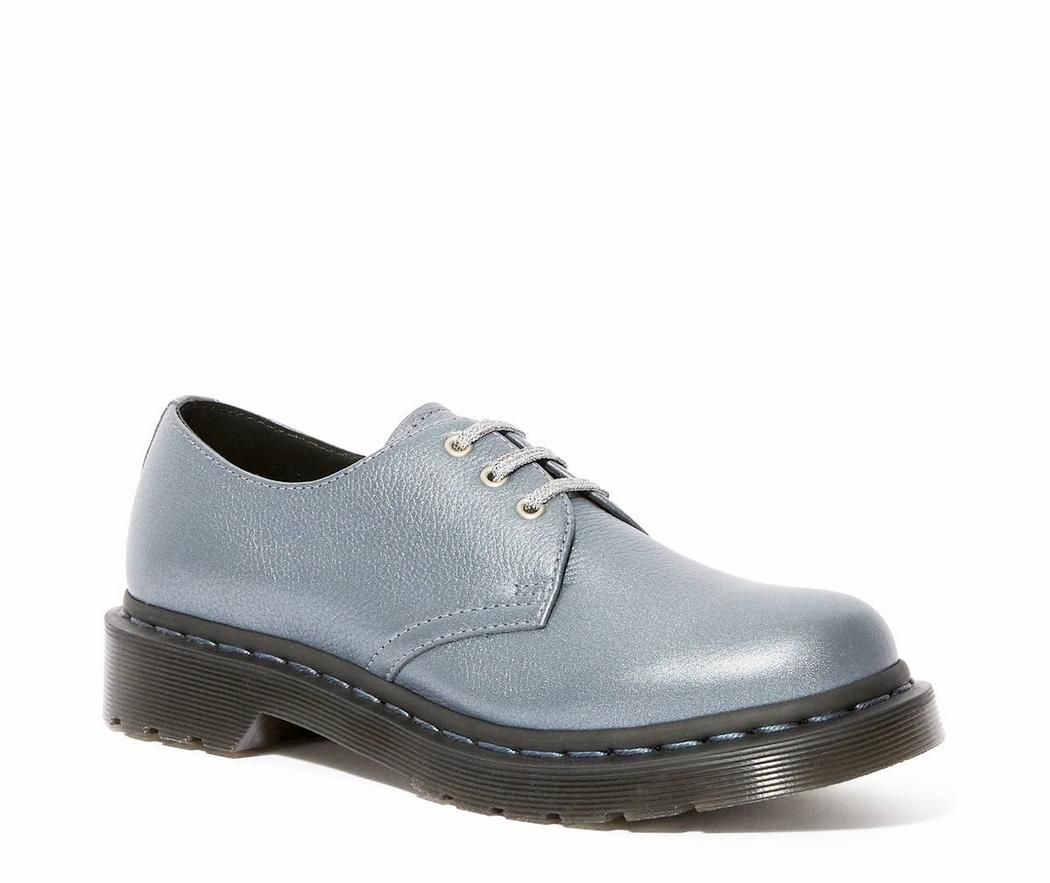 Dr. Martens Leather 1461 Oxford in Silver (Metallic) for Men