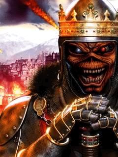 Sony Ericsson W995 Eddie As King Wallpapers Iron Maiden Eddie Iron Maiden Iron Maiden Mascot