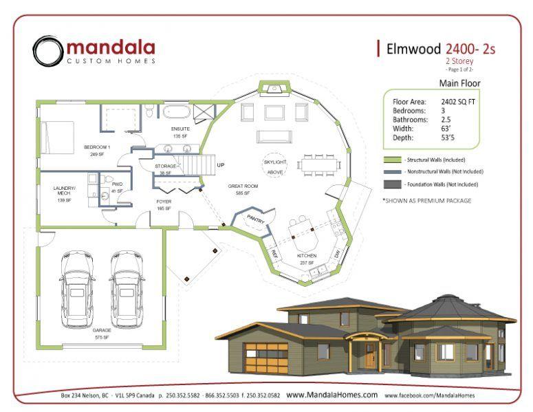 Elmwood Series Floor Plans Mandala Homes Prefab Round Homes Energy Star Qualified Builder Timber Accents Luxury Custom De Floor Plans Flooring Prefab
