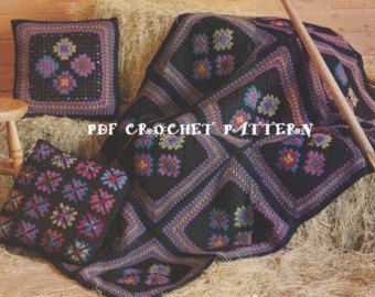 Crochet Diamond Afghan Pattern KC0419. by KatnaboxCollection
