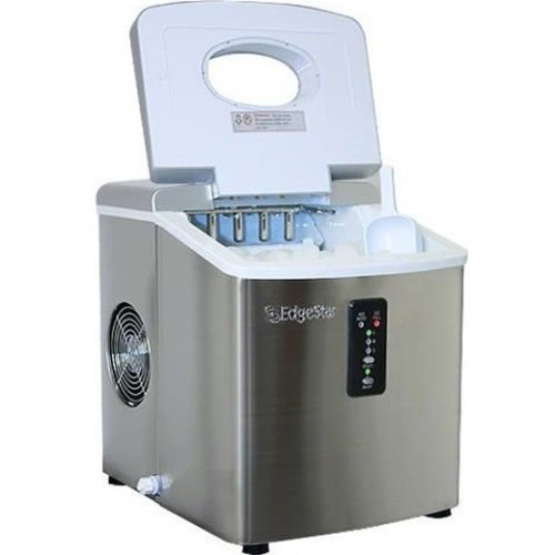 Stainless Steel Portable Ice Maker Compact Countertop Machine