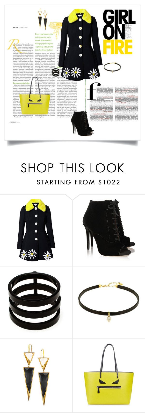 """Girl on Fire"" by shoecraycray ❤ liked on Polyvore featuring Natasha Zinko, Tabitha Simmons, Repossi, Lana and Fendi"