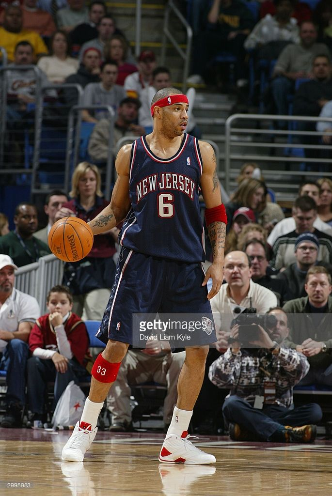 Kenyon Martin  6 of the New Jersey Nets moves the ball against the  Cleveland Cavaliers during the game at Gund Arena on February 11 b6c478ea7