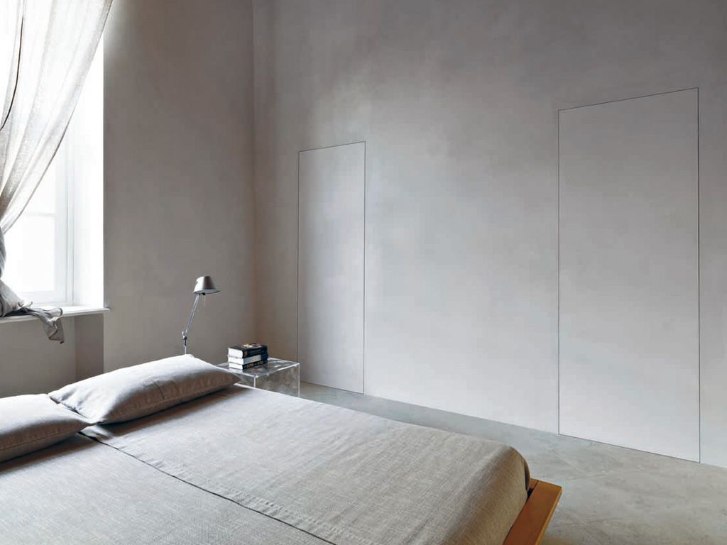 Porte filo muro a Bilico Verticale - L\'Invisibile | interior design ...